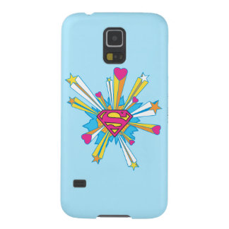 Superman Stylized | Pink with Hearts Logo Galaxy S5 Cover