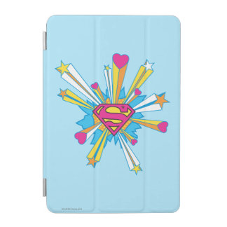 Superman Stylized | Pink with Hearts Logo iPad Mini Cover