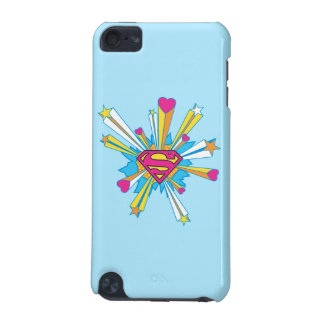 Superman Stylized   Pink with Hearts Logo iPod Touch 5G Covers