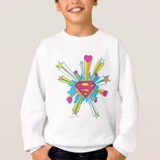 Superman Stylized | Pink with Hearts Logo Sweatshirt