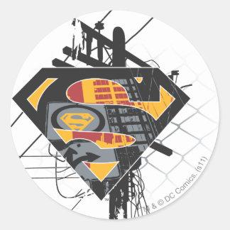 Superman Stylized | Powerlines Logo Classic Round Sticker