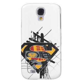 Superman Stylized | Powerlines Logo Galaxy S4 Case