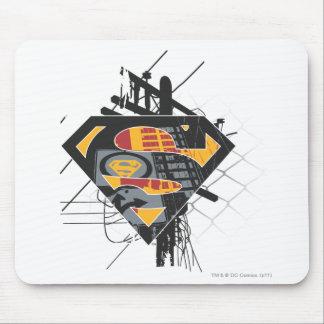 Superman Stylized | Powerlines Logo Mouse Pad