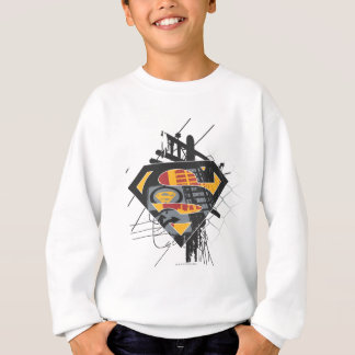 Superman Stylized | Powerlines Logo Sweatshirt