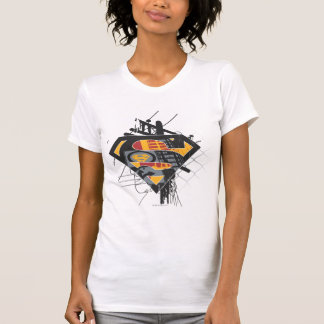 Superman Stylized | Powerlines Logo T-Shirt