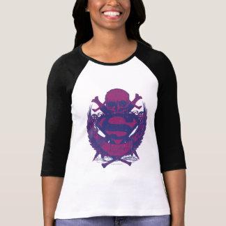 Superman Stylized | Purple and Pink Skull Logo T-Shirt