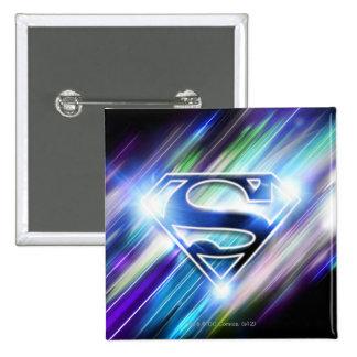 Superman Stylized | Shiny Blue Burst Logo 15 Cm Square Badge