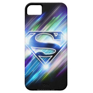 Superman Stylized   Shiny Blue Burst Logo Barely There iPhone 5 Case