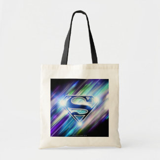 Superman Stylized | Shiny Blue Burst Logo Budget Tote Bag