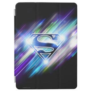 Superman Stylized | Shiny Blue Burst Logo iPad Air Cover