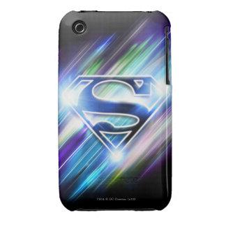 Superman Stylized | Shiny Blue Burst Logo iPhone 3 Covers