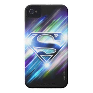 Superman Stylized | Shiny Blue Burst Logo iPhone 4 Case-Mate Case