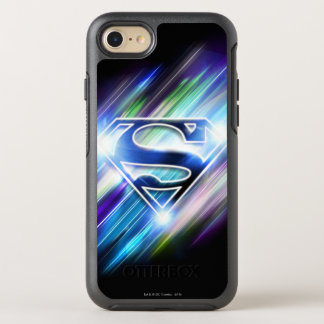 Superman Stylized | Shiny Blue Burst Logo OtterBox Symmetry iPhone 8/7 Case