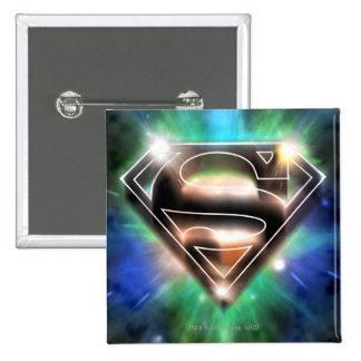 Superman Stylized | Shiny Burst Logo 15 Cm Square Badge
