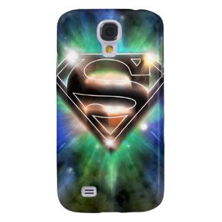 Superman Stylized   Shiny Burst Logo Galaxy S4 Case