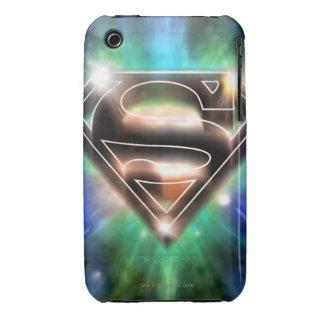 Superman Stylized | Shiny Burst Logo iPhone 3 Case-Mate Cases