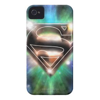 Superman Stylized | Shiny Burst Logo iPhone 4 Case