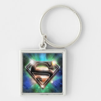 Superman Stylized | Shiny Burst Logo Key Ring