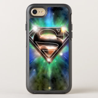 Superman Stylized | Shiny Burst Logo OtterBox Symmetry iPhone 8/7 Case