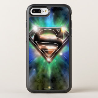 Superman Stylized | Shiny Burst Logo OtterBox Symmetry iPhone 8 Plus/7 Plus Case