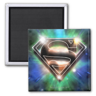 Superman Stylized | Shiny Burst Logo Square Magnet