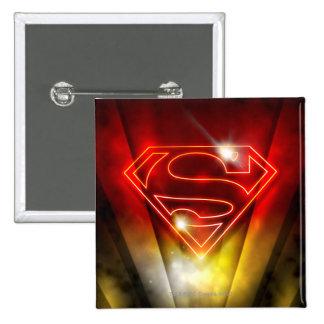 Superman Stylized | Shiny Red Outline Logo 15 Cm Square Badge