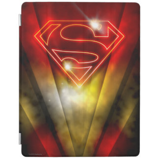 Superman Stylized | Shiny Red Outline Logo iPad Cover