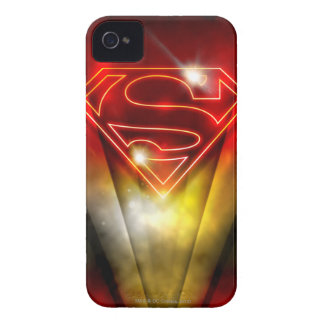 Superman Stylized | Shiny Red Outline Logo iPhone 4 Cover