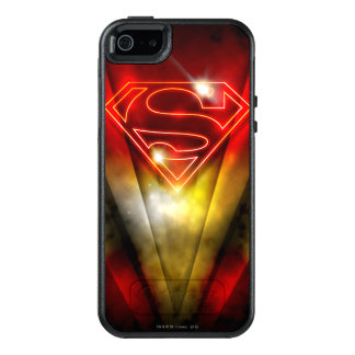 Superman Stylized | Shiny Red Outline Logo OtterBox iPhone 5/5s/SE Case
