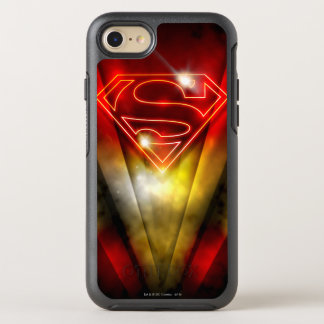 Superman Stylized | Shiny Red Outline Logo OtterBox Symmetry iPhone 8/7 Case