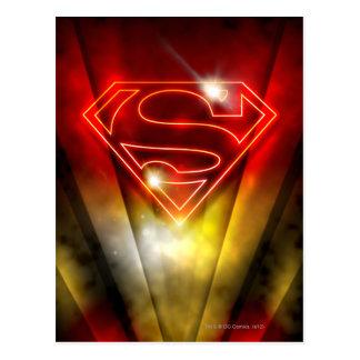 Superman Stylized | Shiny Red Outline Logo Postcard
