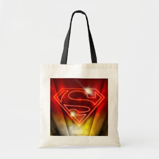 Superman Stylized | Shiny Red Outline Logo Tote Bag