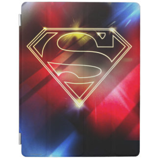 Superman Stylized | Shiny Yellow Outline Logo iPad Cover