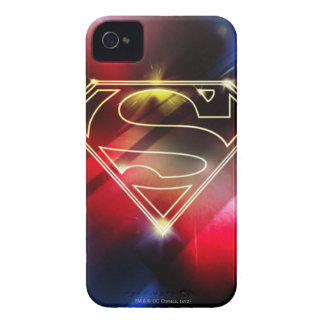 Superman Stylized | Shiny Yellow Outline Logo iPhone 4 Cover