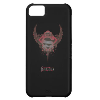 Superman Stylized   Skull and Wings Logo iPhone 5C Case