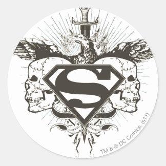 Superman Stylized | Skulls Logo Classic Round Sticker
