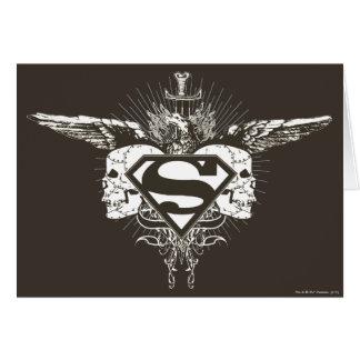 Superman Stylized | Skulls Logo Greeting Card