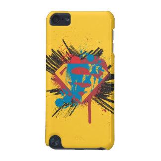 Superman Stylized | Splatter Logo iPod Touch (5th Generation) Case
