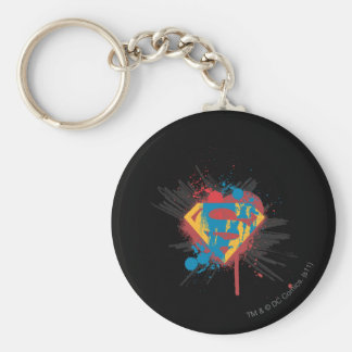 Superman Stylized | Splatter Logo Key Ring