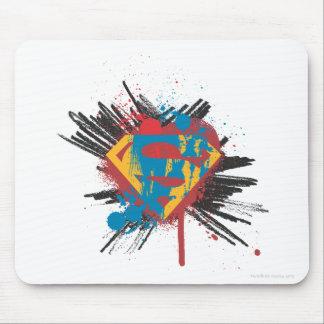 Superman Stylized | Splatter Logo Mouse Mat
