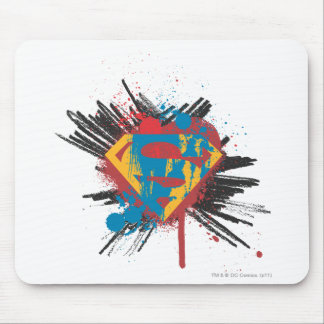 Superman Stylized | Splatter Logo Mouse Pad