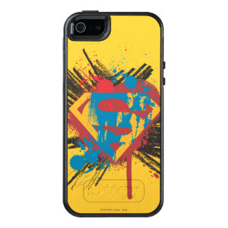 Superman Stylized | Splatter Logo OtterBox iPhone 5/5s/SE Case