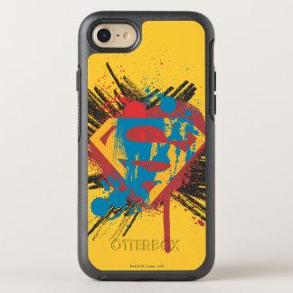 Superman Stylized | Splatter Logo OtterBox Symmetry iPhone 8/7 Case