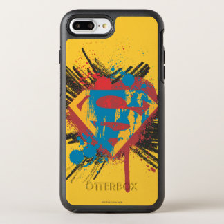 Superman Stylized | Splatter Logo OtterBox Symmetry iPhone 8 Plus/7 Plus Case