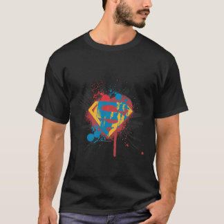Superman Stylized | Splatter Logo T-Shirt
