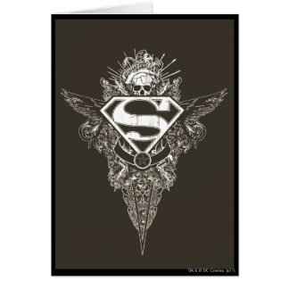 Superman Stylized | Star and Skull Logo Card