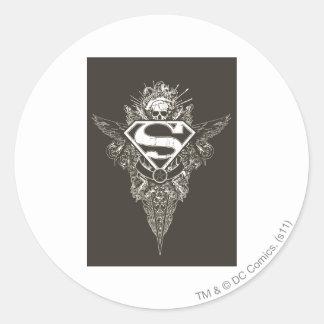 Superman Stylized | Star and Skull Logo Classic Round Sticker