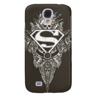Superman Stylized | Star and Skull Logo Galaxy S4 Case