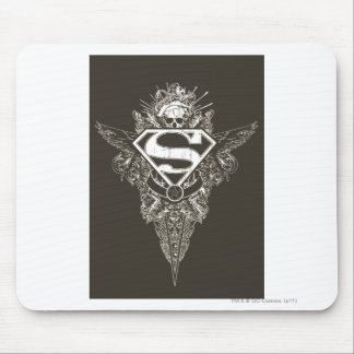 Superman Stylized | Star and Skull Logo Mouse Pad