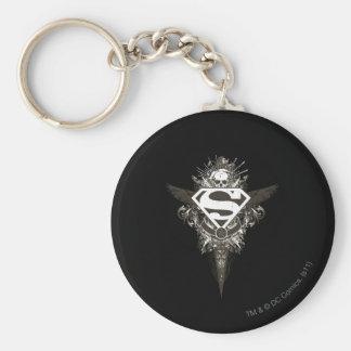 Superman Stylized   Star and Skull White Logo Key Ring